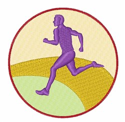 Runner Circle embroidery design