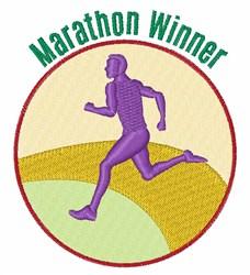 Marathon Winner embroidery design
