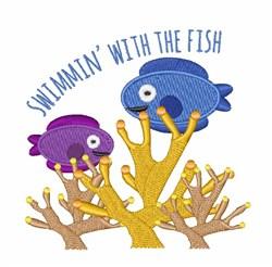 Swmmin Fish embroidery design