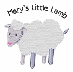 Marys Little Lamb embroidery design