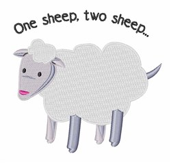 One Sheep embroidery design