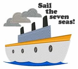 Sail Seven Seas embroidery design