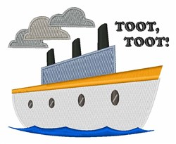 Toot Toot embroidery design