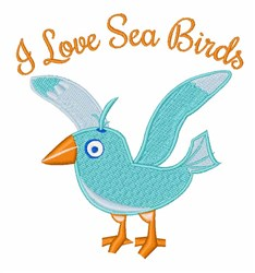 Sea Birds embroidery design