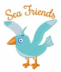 Sea Friends embroidery design