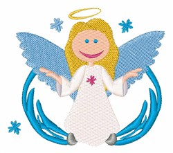 Winter Angel embroidery design