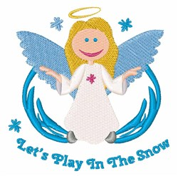 Snow Play Angel embroidery design