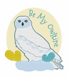 Be My Owltine embroidery design