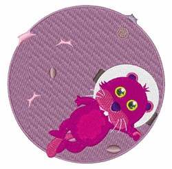Otter Astronaut embroidery design
