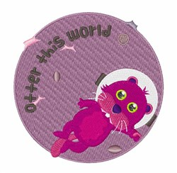 Otter This World embroidery design