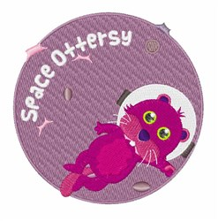 Space Ottersy embroidery design