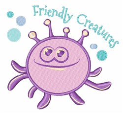 Friendly Creatures embroidery design