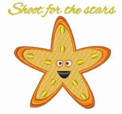 Shoot for Stars embroidery design