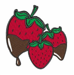 Chocolate Dip Strawberries embroidery design