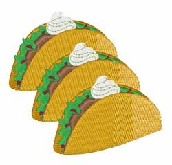Taco Sour Cream embroidery design
