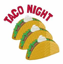 Taco Night embroidery design