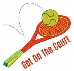 Get on the Court embroidery design