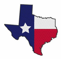 Lone Star State embroidery design