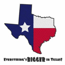 Texas Bigger embroidery design