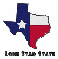 Lone Star Texas embroidery design