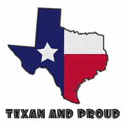 Texan and Proud embroidery design