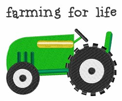 Farming for Life embroidery design