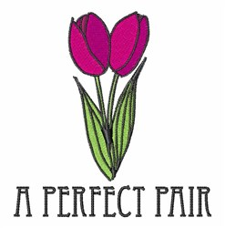 Perfect Pair embroidery design