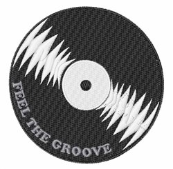 Feel the Groove embroidery design