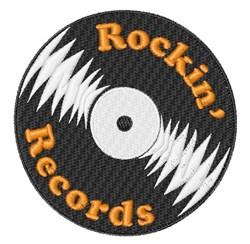Rockin Records embroidery design