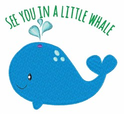 Little Whale embroidery design