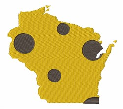 Wisconsin State embroidery design