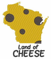 Land of Cheese embroidery design