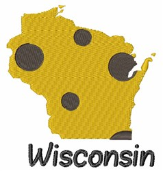 State Wisconsin embroidery design