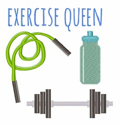 Exercise Queen embroidery design