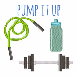 Pump It Up embroidery design