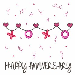 Happy Anniversary embroidery design