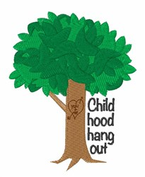 Hang Out embroidery design