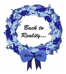 Back to Reality embroidery design