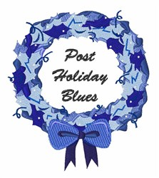 Post Holiday Blues embroidery design