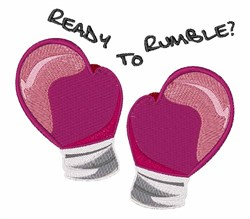 Ready to Rumble embroidery design