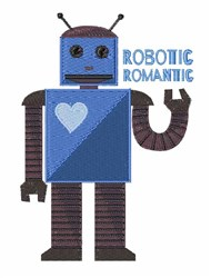 Robotic Romantic embroidery design