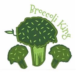 Broccoli King embroidery design