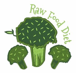 Raw Food Diet embroidery design