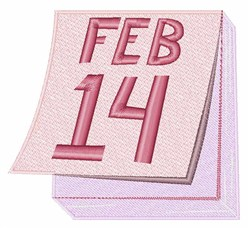 Feb 14 Calendar embroidery design