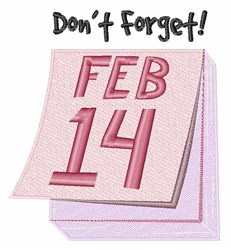 Dont Forget embroidery design
