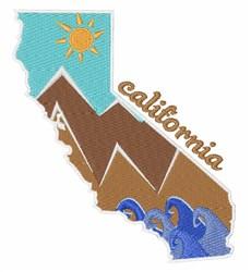 California Landscape embroidery design