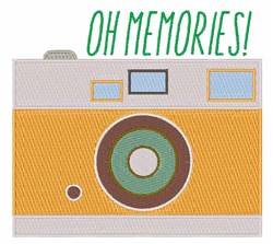 Memories Camera embroidery design