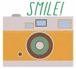 Smile Camera embroidery design