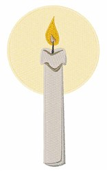 Flame Candle embroidery design