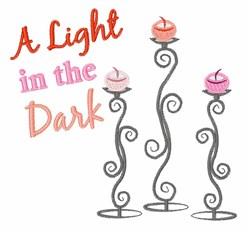Light in Dark embroidery design